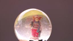 Snow Globe With Reindeer stock footage
