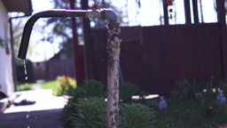 Old Dripping Faucet.Concept Of Water Wastage ビデオ
