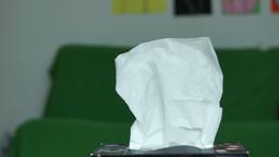 Hand Grabs Kleenex From Box Footage