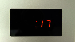 Digital Clock of Microwave Oven Countdown 30 seconds Footage