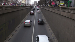Traffic in Bucharest, Romania Footage