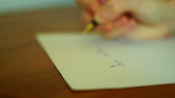 Writing Letter stock footage