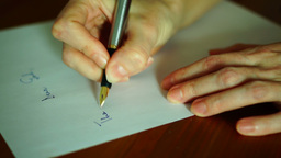 Writing Letter to God Footage