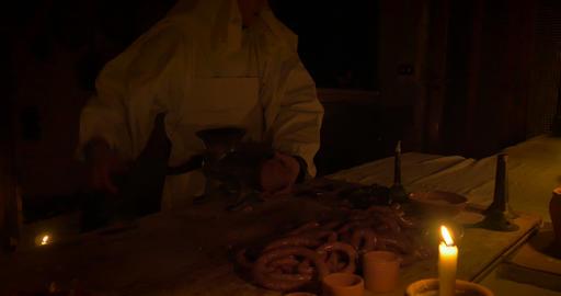 butcher sausage 03 Footage