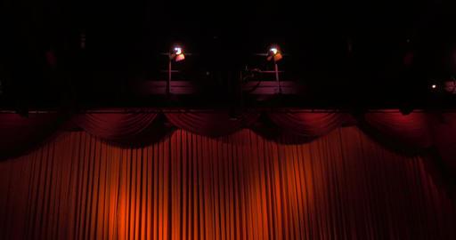 Curtain 02 stock footage