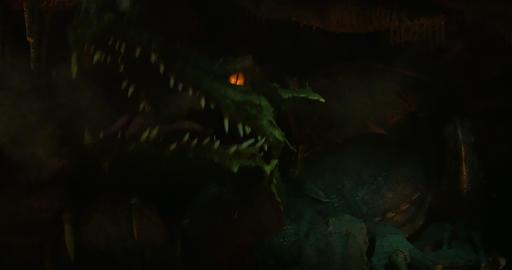 dragon smoke close up 02 Footage
