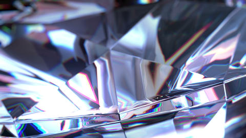4k close-up slowly rotating diamond CG動画素材