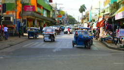 PUERTO PRINCESA, PHILIPPINES - February 2015: Traffic In Puerto Princesa, Philip stock footage