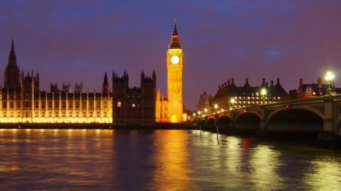 Night London stock footage