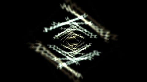 Time Tunnel,blue rotation rhombus sawtooth trails in 3D space,channel,flying,bla Footage