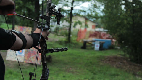 Archer Training With The Bow stock footage