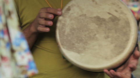Playing The Drum stock footage