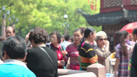 Yuyuan Garden In Shanghai stock footage