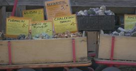 4K, Gemstones in boxes on farmers market Filmmaterial