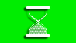 animated white shaped sand watch with shadow Animation