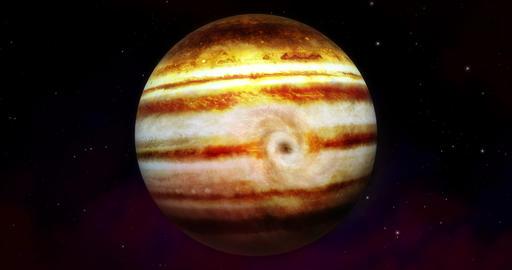 4K Wide Jupiter animated layers-Storm Animation