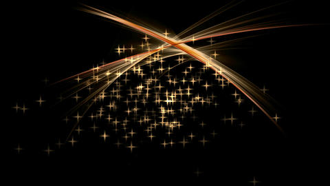 Festive abstract background with stars and rays of light Stock Video Footage