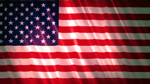 United States Of America Flag 2 stock footage