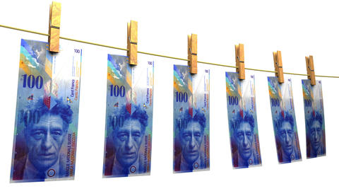 Drying Swiss Francs (Loop + Matte) Animation