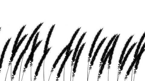 Grassheads swaying loop, Stock Animation