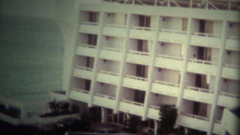 (Super 8 Vintage) Luxury 80's Beach Hotel Footage