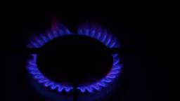 Natural Gas Inflammation In Stove Burner Footage