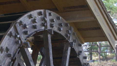 Waterwheel At Showa Kinen Park,Tokyo,Japan,Filmed In 4K stock footage