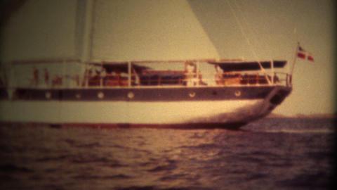 (Super 8 Film) Windjammer Ship Denmark 1982 Footage