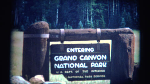 (Super 8 Film) Grand Canyon Park 1966 Footage