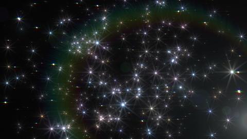 Star Particle B front Dw 4 K CG動画