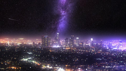 Milky Way LA Glow UHD Animation
