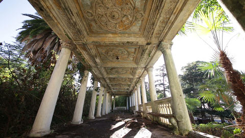 Interior of Old Abandoned Railway Station Building in the Republic of Abkhazia G Footage