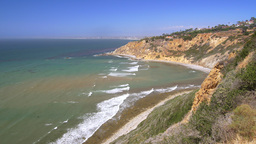 Remote ocean cove in Palos Verdes California Footage