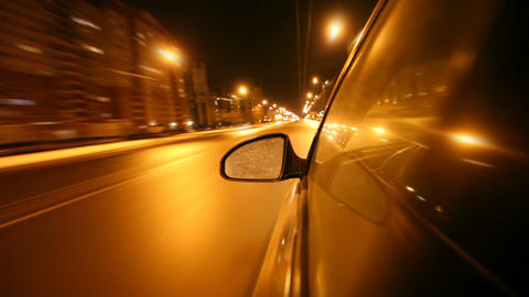 Night Drive stock footage