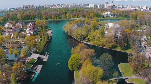 Aerial View of Kayak Floating in Canal ビデオ