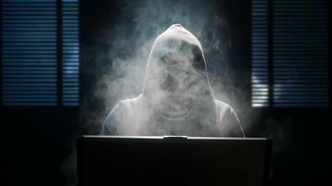 internet hacker heavy smoking 11624 Footage