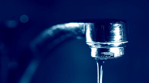 Water Flowing From The Tap stock footage
