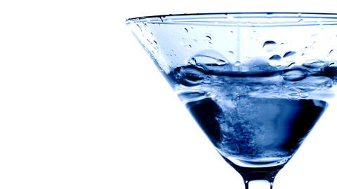 Pouring Martini into glass Footage