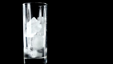 Melting Ice In Glass stock footage