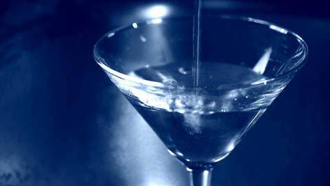 Filling martini glass Footage