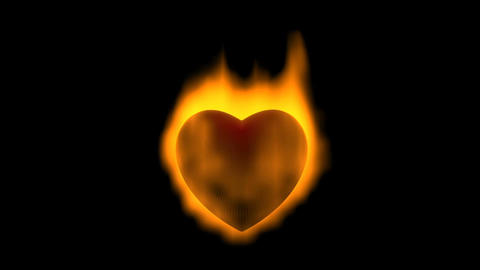 Burning heart Animation