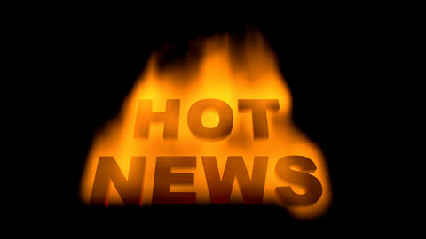 Hot News stock footage