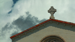 Church w/ Time-lapse Clouds Footage