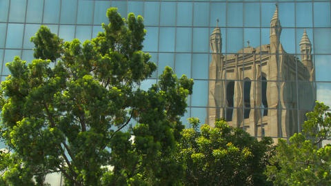 Urban Cathedral Reflection Footage