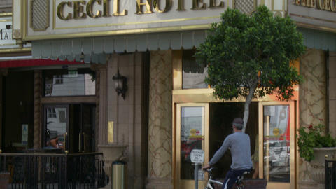Cecil Hotel Entrance Footage
