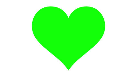 Loopable beating green screen heart Stock Video Footage