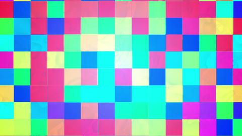 Broadcast Twinkling Hi-Tech Blocks, Multi Color, Abstract, HD Animation