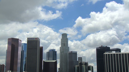 Cloudy Downtown LA stock footage