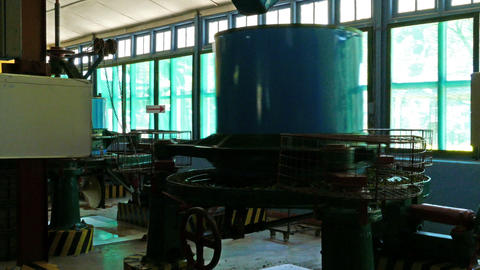 machines work on a tea factory Footage