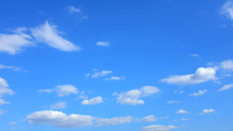 Clouds Float Against The Blue Sky stock footage